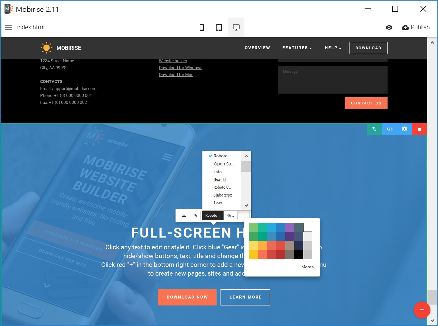Quick and Simple Website Builder Tool