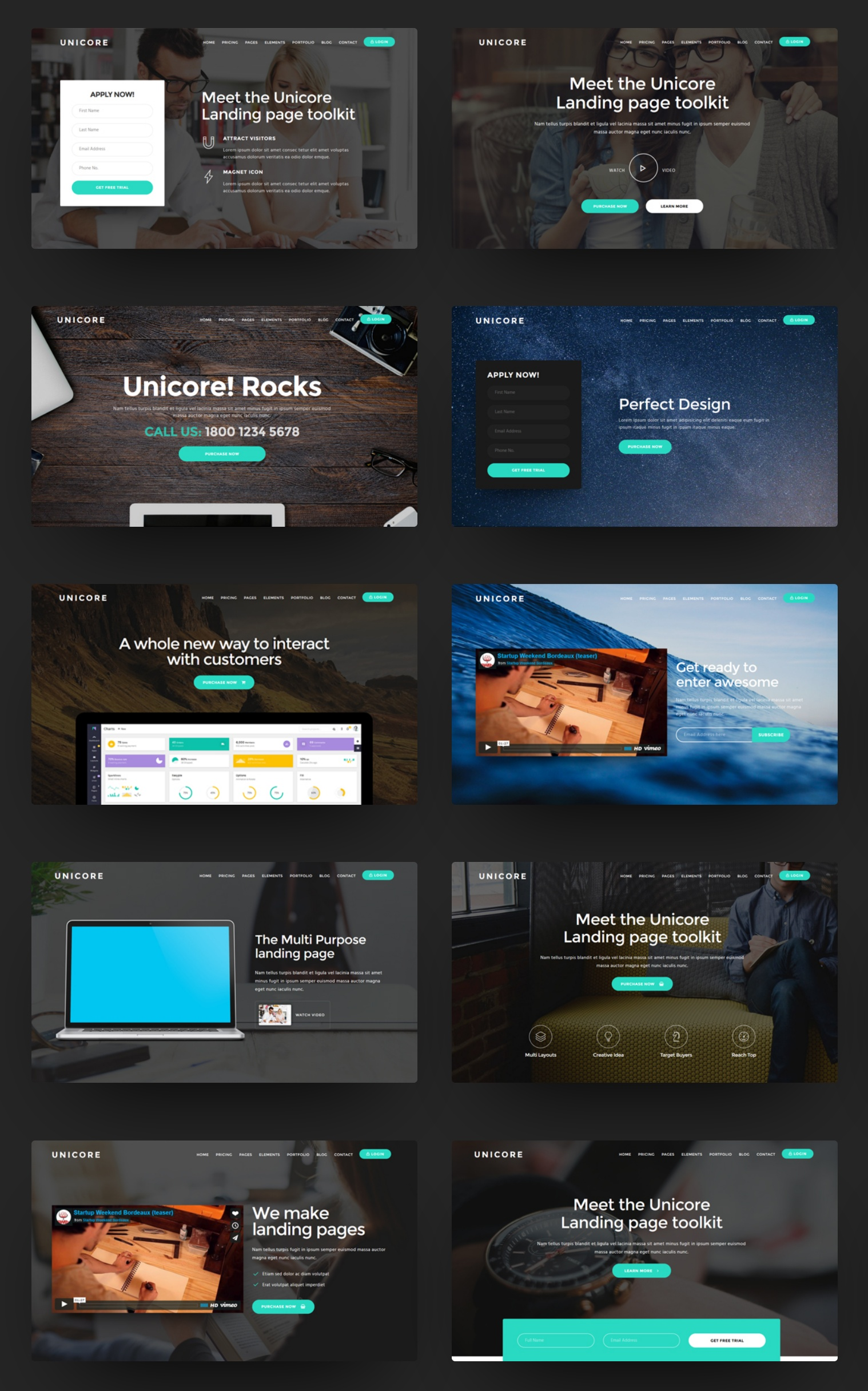 Free Bootstrap Landing Page Theme Builder