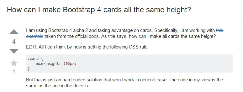 Insights on  just how can we  create Bootstrap 4 cards  all the same  height?